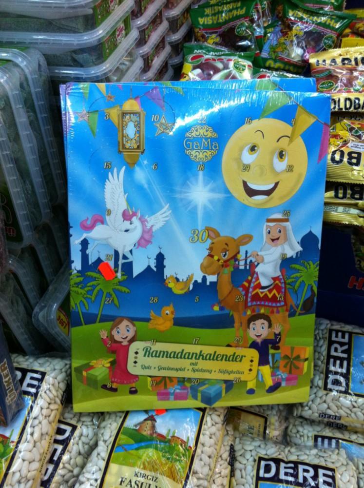 Ramadan  calendar with unicorn