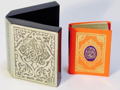 Miniature Koran in metal box