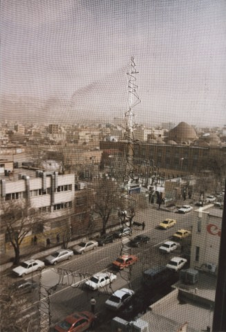 Stitched up view on Tabriz