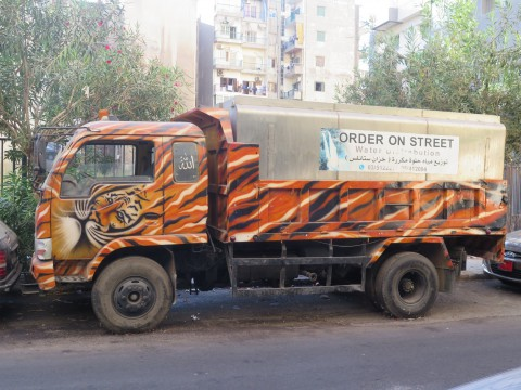 Truck with tiger airbrusch